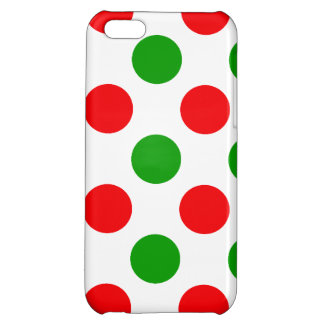 Red and Green Polka Dots iPhone 5C Case