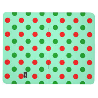 Red and Green Polka Dots Journal