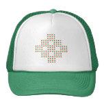 Red and Green Polka Dots Mesh Hats