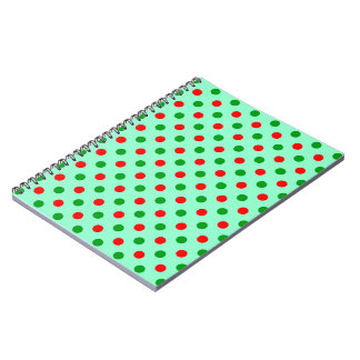 Red and Green Polka Dots Notebook