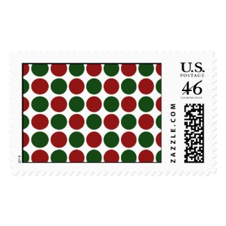 Red and Green Polka Dots on White