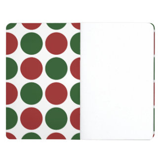 Red and Green Polka Dots on White Journal