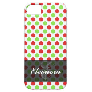 Red and Green Polka Dots Pattern iPhone 5 Cover