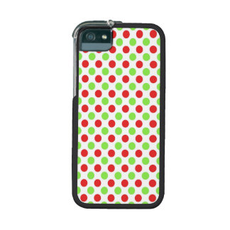 Red and Green Polka Dots Pattern Case For iPhone 5/5S