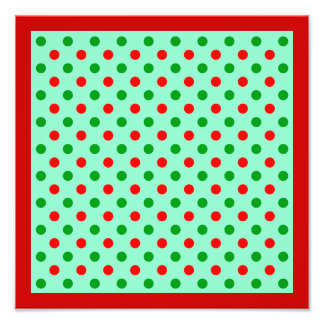 Red and Green Polka Dots Photo Print