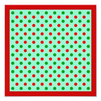 Red and Green Polka Dots Photo Print