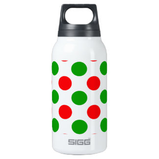 Red and Green Polka Dots Thermos Bottle