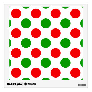Red and Green Polka Dots Wall Decal