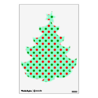 Red and Green Polka Dots Wall Decals