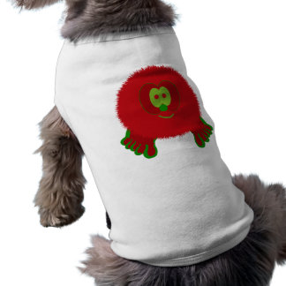 Red and Green Pom Pom Pal Dog Tee