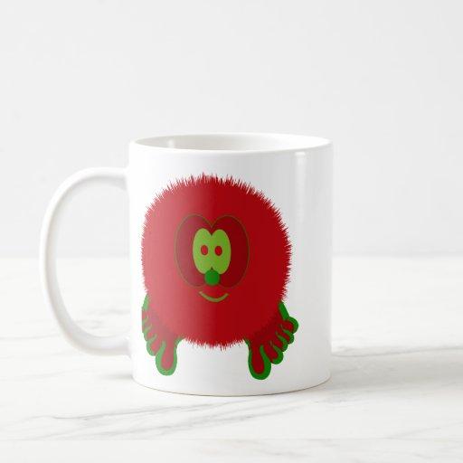 Red and Green Pom Pom Pal Mug