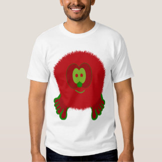 Red and Green Pom Pom Pal T Shirt