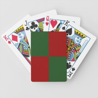 Red and Green Rectangles Bicycle Card Deck