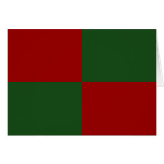Red and Green Rectangles Card