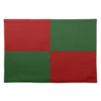 Red and Green Rectangles Cloth Placemat