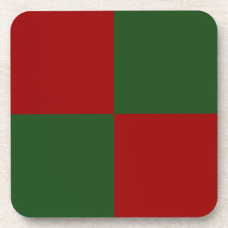 Red and Green Rectangles Drink Coaster