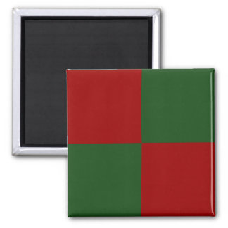 Red and Green Rectangles Magnet
