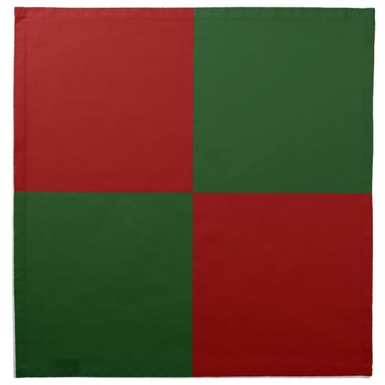 Red and Green Rectangles Napkin