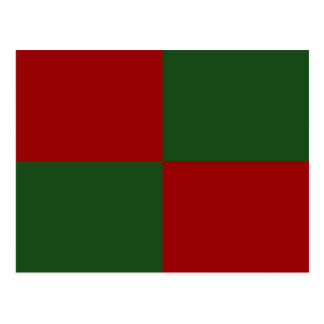Red and Green Rectangles Postcard