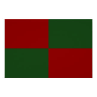 Red and Green Rectangles Poster