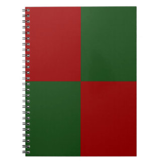 Red and Green Rectangles Spiral Notebooks