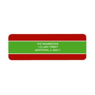 Red and Green Return Address Label