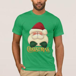 Red and Green Santa | Christmas T-Shirt
