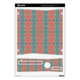Red and green shapes pattern xbox 360 s decals