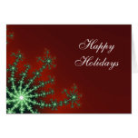 Red and Green Snowflake Business Christmas Card