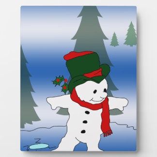 Red and Green Snowman Plaque