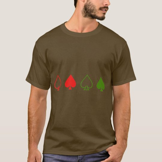 Red and Green Spades T-Shirt