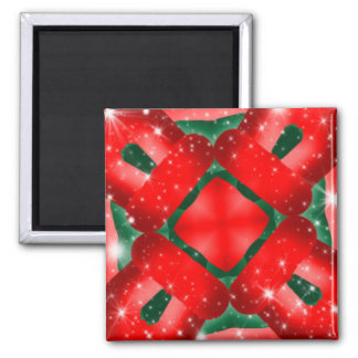 Red and Green Sparkle Design Magnet