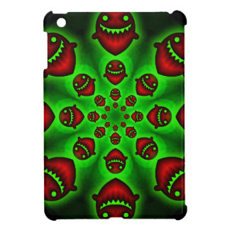 Red and Green Spooky Ghosts ipad mini case