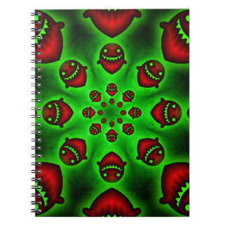 Red and Green Spooky Ghosts notebook