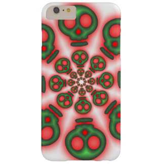 Red and Green Spooky Skulls Barely There iPhone 6 Plus Case