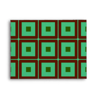 Red and Green Squares Envelope