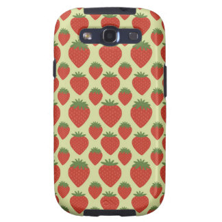 Red and Green Strawberries Pattern Galaxy SIII Cover