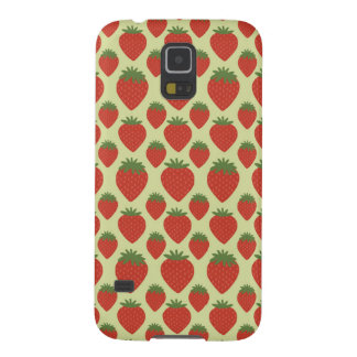 Red and Green Strawberries Pattern Galaxy S5 Cases