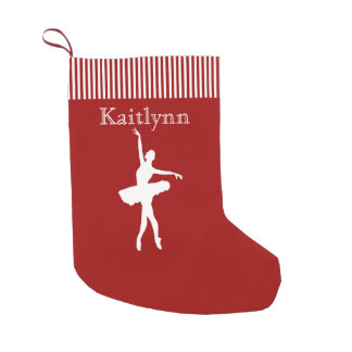 Red and Green Stripe Dancer Christmas Stocking