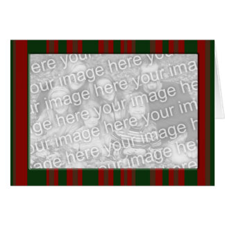 Red and green striped photo frame card