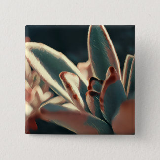 Red and Green Succulent Button