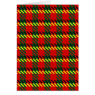 Red and Green Tartan Card