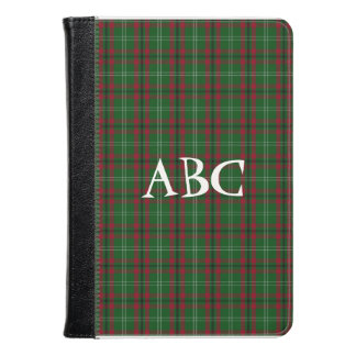 Red and Green Tartan Folio Case