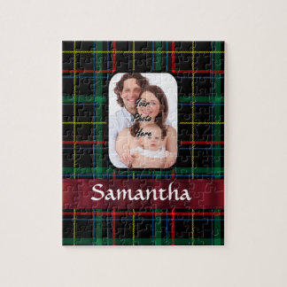 Red and green tartan jigsaw puzzles