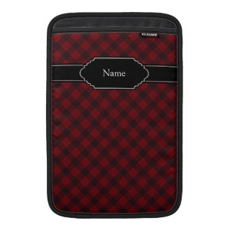 Red and Green Tartan Plaid Pattern Sleeves For MacBook Air