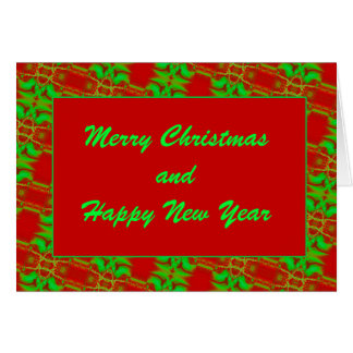 Red and Green Template Card
