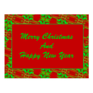 Red and Green Template Postcard