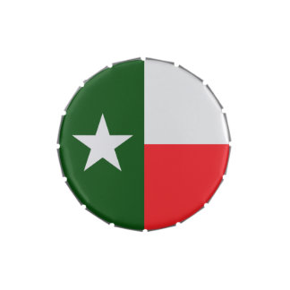Red and Green Texas Flag Jelly Belly Tin