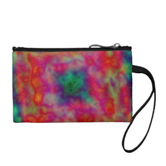 Red And Green Tie Dye Coin Wallet