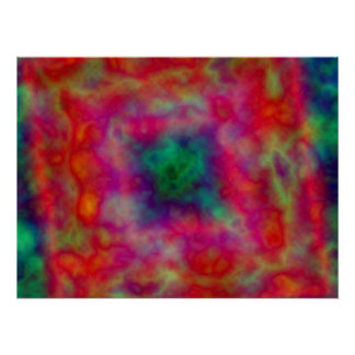 Red And Green Tie Dye Poster